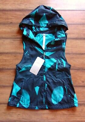 LULULEMON ~ New! NWT Size 6 ~ Back Spin Peacock Blue PACK-IT Running Vest
