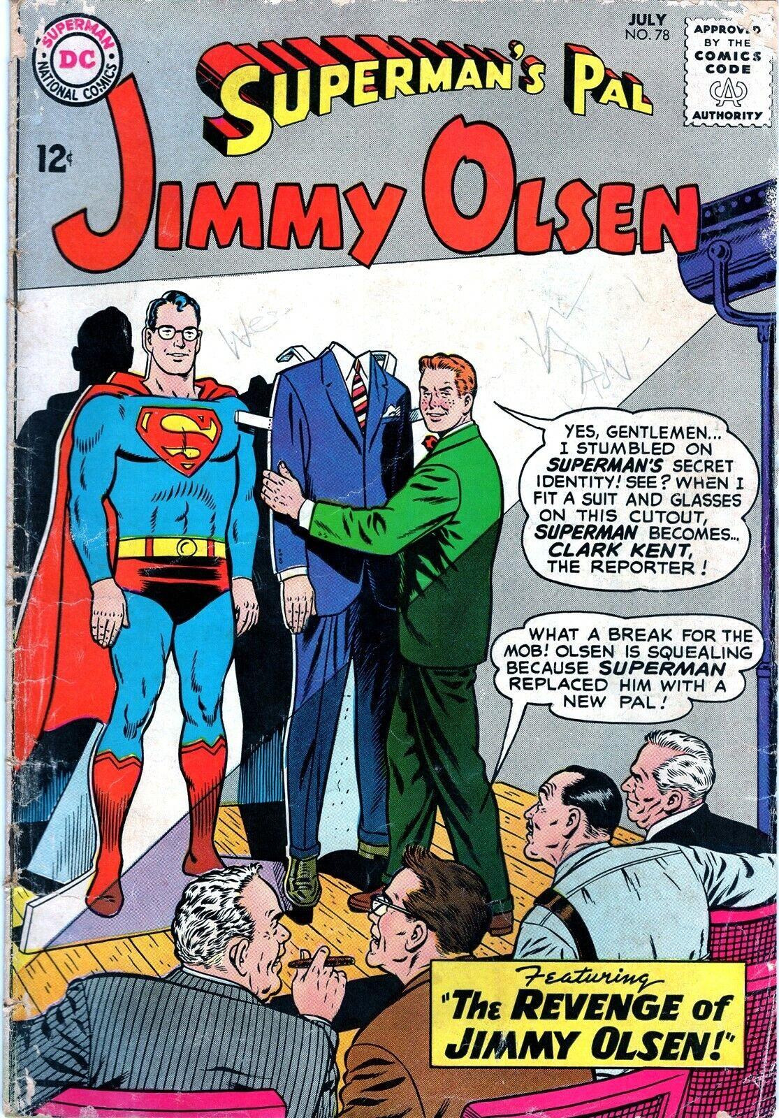 Superman s Pal Jimmy Olsen 78 Curt Swan Silver Age DC Comics 1964  - $0.99