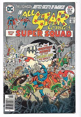 DC ALL STAR COMICS  No. 64 Justice Society America, The Super Squad, 1977, FINE