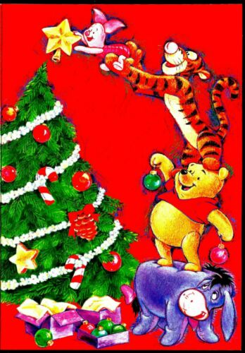 WINNIE THE POOH, TIGER & PIGLET, VINTAGE COLLECTIBLE CHRISTMAS CARD # 07