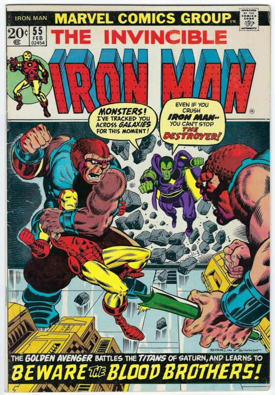 The Invincible Iron Man #55 (February 1973, Marvel), 6.5 FN+, 1st App. Thanos!