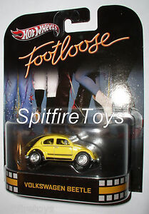 HOT WHEELS RETRO ENTERTAINMENT FOOTLOOSE VW VOLKSWAGEN BEETLE BUG from C CASE