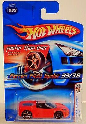 HOT WHEELS FASTER THAN EVER 2006 FERRARI F430 SPIDER ( RED )