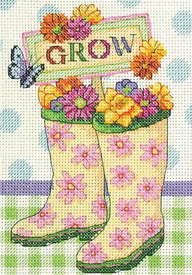 "Dimensions 70-65127 Grow Mini Counted Cross Stitch Kit-5""X7"""