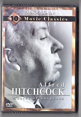 ALFRED HITCHCOCK MASTER OF SUSPENSE   LEGEND SERIES  10 FILMS NEW SEALED IN BOX
