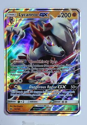 Pokemon Card - Lycanroc GX - 74/145 - Guardians Rising - Excellent