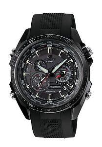 Casio Edifice Men's EQS-500C-1A1ER Quartz Solar Powered Watch with Black Dial