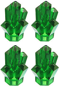 NEW-LEGO-Trans-Green-x4-CRYSTALS-JEWELS-ROCKS-Pirate-Treasure-Kryptonite