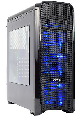 VIVO ATX Mid Tower Computer Gaming Black PC Case w/ Window, 8 Fan Ports, USB 3.0