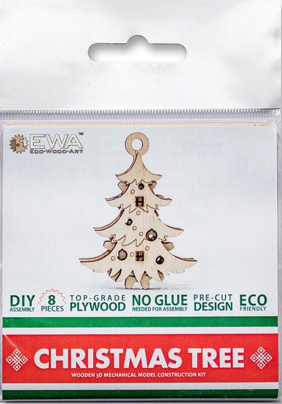 Artventure LLC-Artventure EWA Eco-Wood-Art Fidget-Christmas Tree