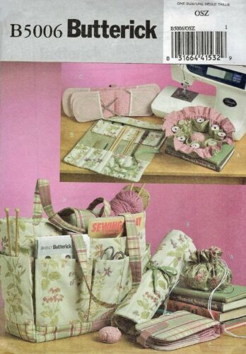 Butterick B5006 Sewing Knitting Tote Bag, Craft Accessories Sewing Pattern FF