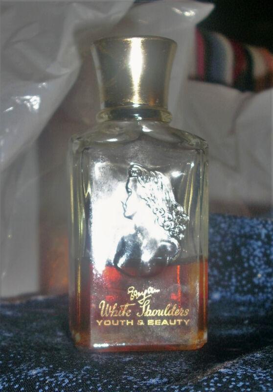 WHITE SHOULDERS Youth & Beauty BATH PERFUME OIL by EVYAN >2oz/59ml VTG >preowned