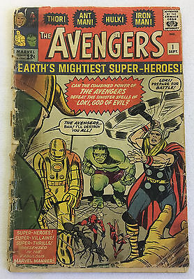 1963 Marvel AVENGERS #1 ~ classic silver age key