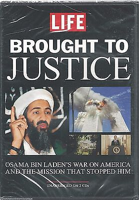 BROUGHT TO JUSTICE Audio BOOK  Osama bin Laden UNABRIDGED 2 CDs NEW Pakistan  for sale  Shipping to India