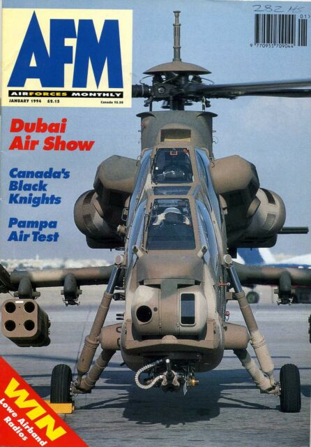 Air Forces Monthly 1994 January RCAF CT-133,Romania,Lynx,Pampa