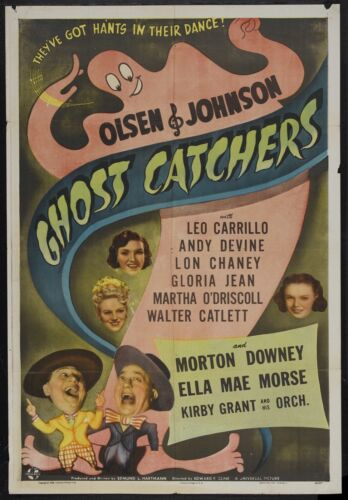 "Ghost Catchers (Universal, 1944). One Sheet (27"" X 41""). Comedy"