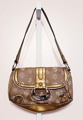Genna De Rossi Medium Brown & Gold Purse Handbag Shoulder Bag 7