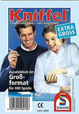 SCHMIDT 49070 - GROßER KNIFFELBLOCK, FÜR 600 KNIFFEL-PARTIEN, NEU/OVP online kaufen