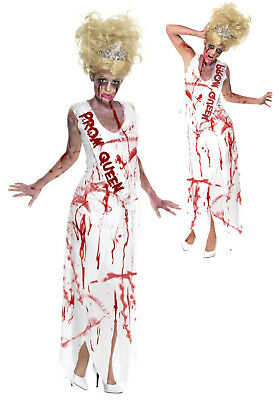 Ladies Zombie Prom Queen Costume Carrie American Adult Halloween Fancy Dress  ()