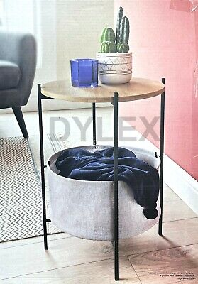 Round Side Table Small Sofa End Coffee Table Bedside Lamp Stand With...