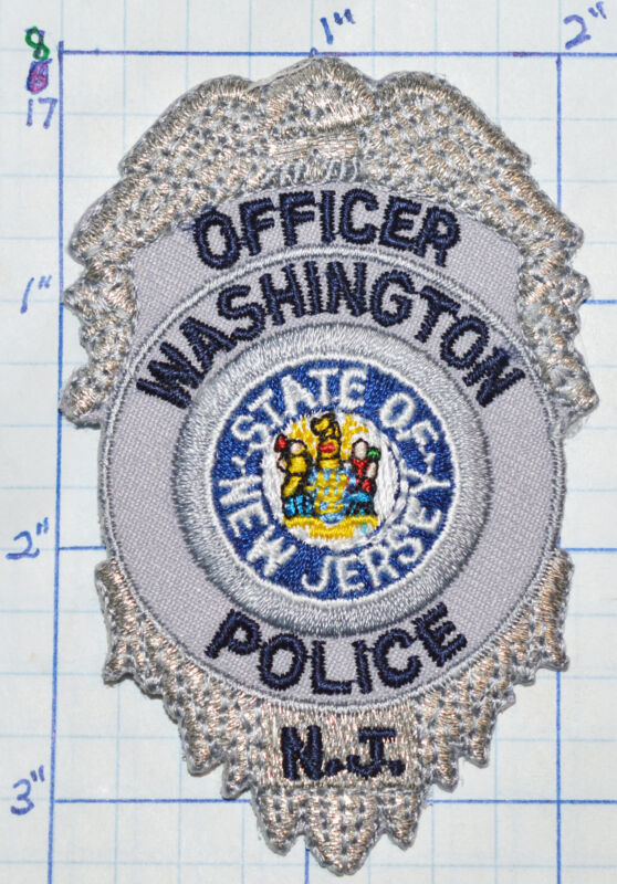 """NEW JERSEY, WASHINGTON POLICE OFFICER 3.25"""" PATCH"""