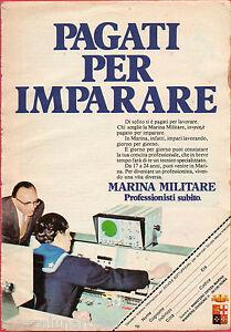 Pubblicita-Advertising-MARINA-MILITARE-ITALIANA-1985-Pagati-per-imparare