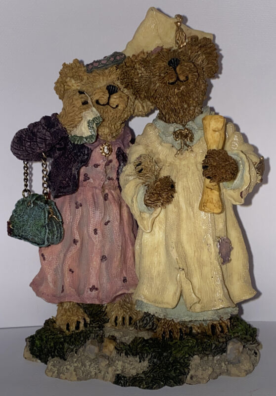 Boyds Bear Bearstone Momma Berriproud with Jamie...Seize The Day New 1E/3877