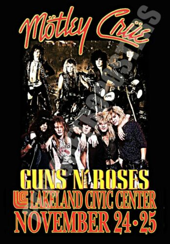 """Motley Crue 13"""" X 19"""" Reproduction Concert Poster archival quality 001"""