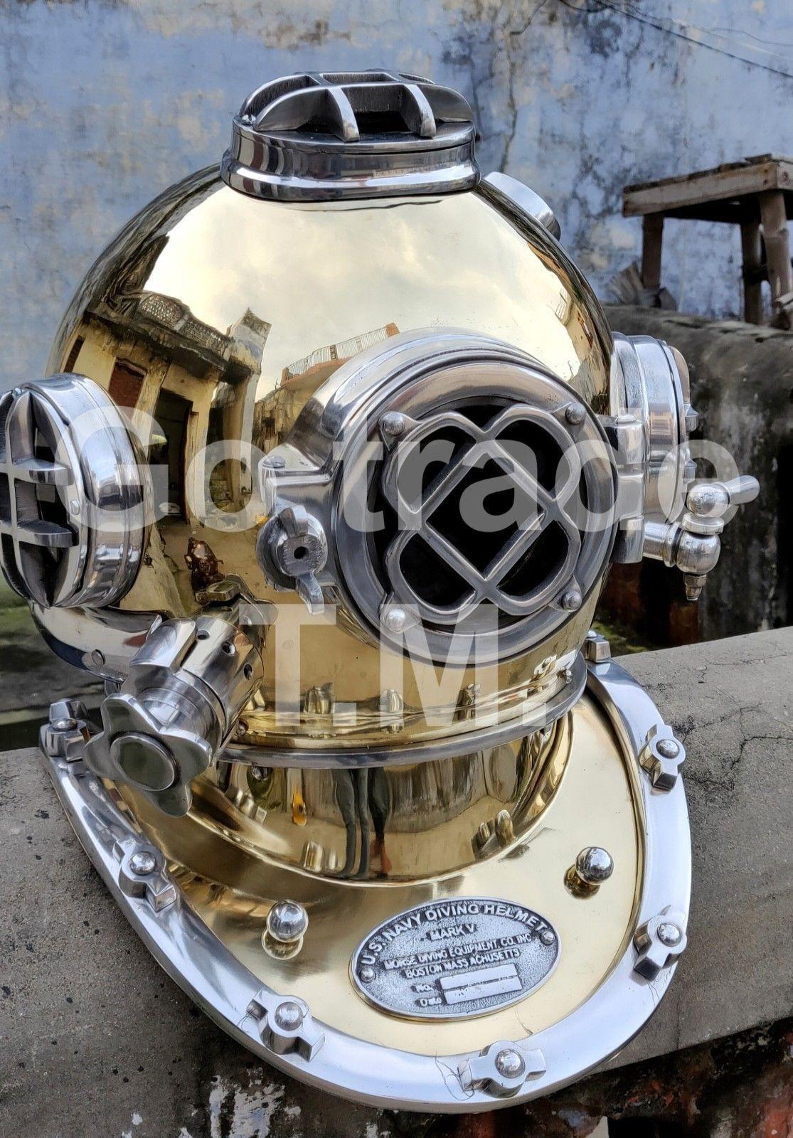 US Navy Mark V Vintage Dive Helmet Antique Diving Divers Helmet Christmas gift