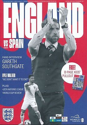 ENGLAND v Spain (UEFA Nations League 08.09) 2018 - Official match programme