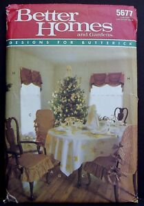 Vtg Butterick Christmas Star Tablecloth Placemat Chair Cover Sewing Pattern 5677