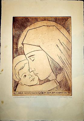 Grafik,Franz Joseph Lichtenberg,Maria Gnadenvolle,Radierung,1924