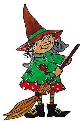 Bild Halloween (Fensterbild Window Color Bild Halloween Hexe (373) Fensterfolie)