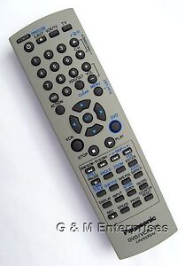 New Panasonic EUR7724KE0R Replacement Remote Control for PV-D4735S DVD/VCR Combo
