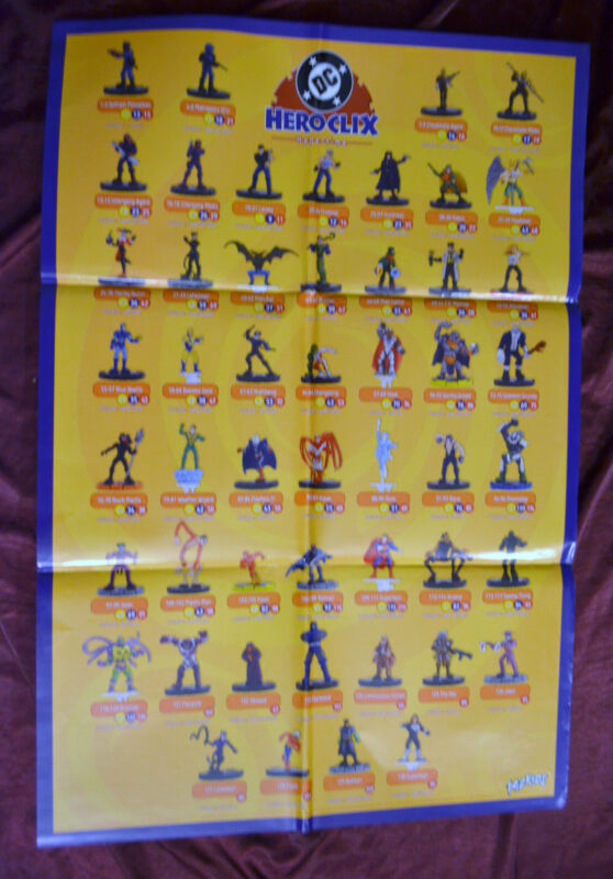 DC Hypertime Promo Poster By Heroclix Miniatures Character List 2003