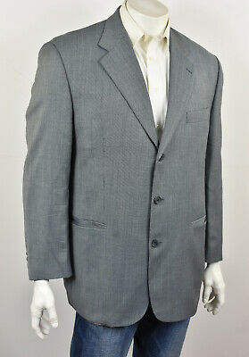 JACK VICTOR PROSSIMO Gray Woven Wool Tweed 3-Btn Classic Fit Sport Coat 44R