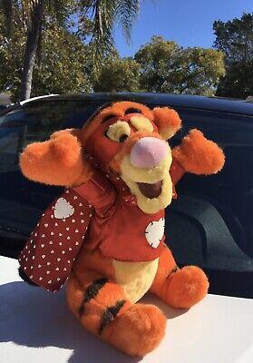 "Disney Winnie Pooh Bear Friend Tigger Valentine's Day Stuffed Animal 13"" Plush"
