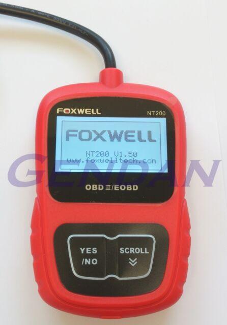 Foxwell NT200 EOBD OBD-II OBD2 Diagnostic Scan Tool with Live Data