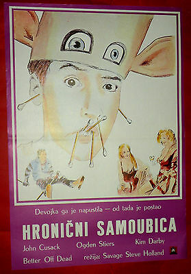 Punter OFF DEAD '85 JOHN CUSACK KIM DARBY SAVAGE STEVE HOLLAND EXYU MOVIE POSTER