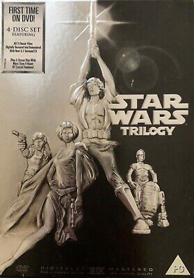 Star Wars Trilogy (Official UK DVD Boxset) Supplied In Original Case (FreePost)