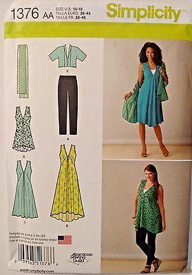 Simplicity Misses Women's Jacket Dress Sewing Pattern 1376 Size 10-18 UNCUT
