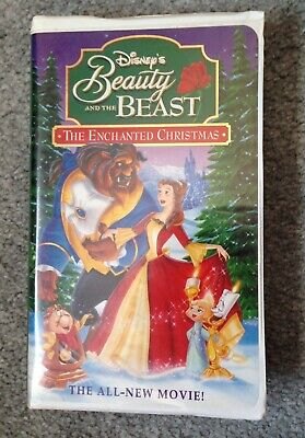 Walt Disney Beauty And The Beast The Enchanted Christmas VHS Belle Castle ()