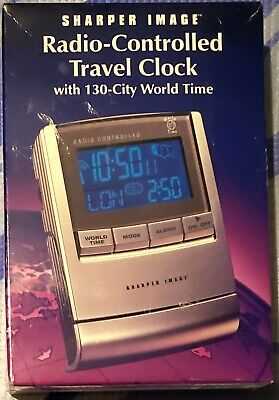 Sharper Image Radio Controlled Travel Clock New/Sealed HTF OQ314