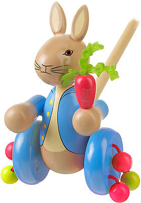 Orange Tree Toys PETER RABBIT PUSH ALONG Baby/Toddler/Child Wooden Toys BN