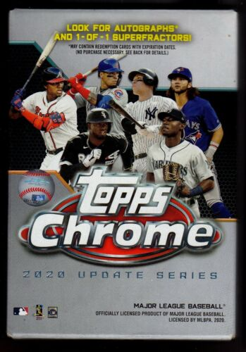 2020 Topps Chrome Update Series Hanger Box MLB Baseball (22 Cards)
