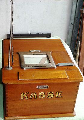Curt Friedel Kasse Registrierkasse Ladenkasse Krämerkasse Holzkasse um 1910