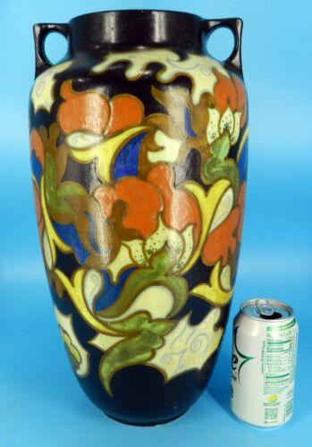 Monumental HUGE GOUDA KONINKRYK GOEDEWAAGEN HOLLAND Vase Art Nouveau