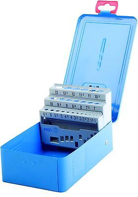 Profesional Cassette Azul Metal-Deposito Vacío Para 25 Broca 1,0-13,0 X 0,5MM