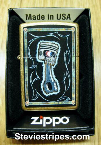 Zippo Lighter PISTPISTON #49477 Kustom Kulture Pinstriper Artwork EXCLUSIVE !!