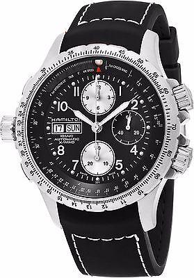 Hamilton Men's X Wind Black Rubber Strap Chronograph Automatic Watch H77616333